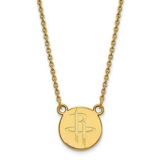GP023RCK-18: 925 YGFP LogoArt Houston Rockets Pendant Neck
