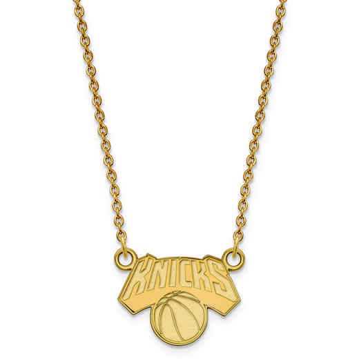 GP021KNI-18: 925 YGFP LogoArt New York Knicks Pendant Neck