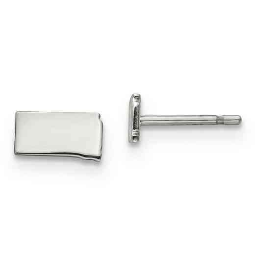 XNE50SS-SD: 925 South Dakota State Earrings
