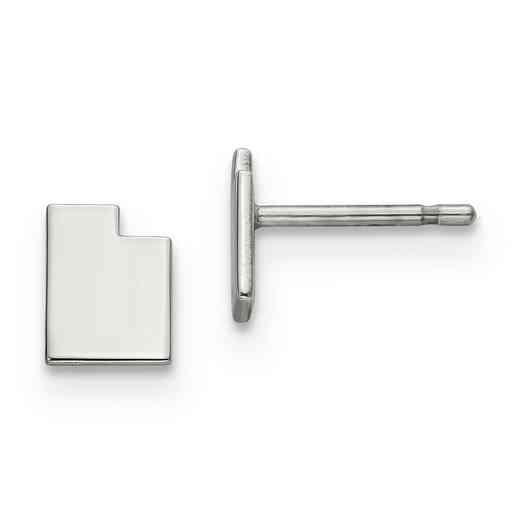 XNE50SS-UT: 925 Utah State Earrings