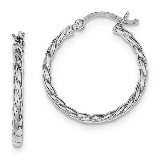 QE8216: 925 Rhodium Plated Hinged Earrings