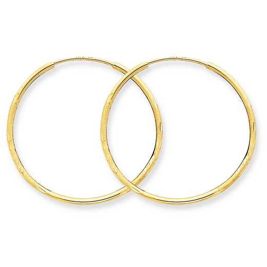 XY1216: 14K YG 1.25MM ENDLESS HOOP EARRINGS