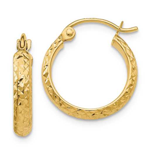 TC792: 14K YG 2.8MM HOOP EARRINGS