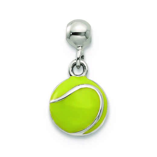 QMM223: 925 Mio Memento Enamel Dangle Tennis Ball Charm