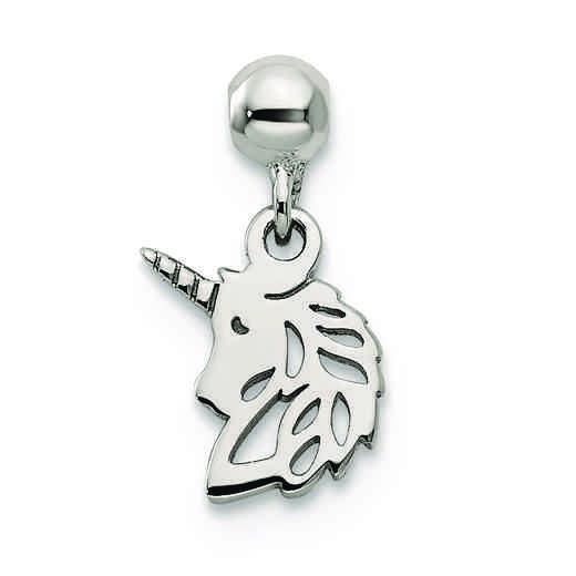 QMM235: 925 Mio Memento Dangle Unicorn Charm