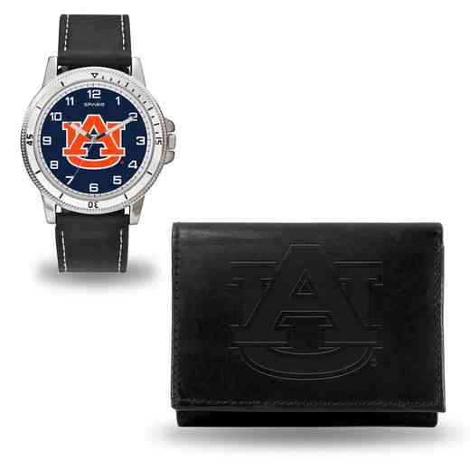 WTWAWA150201: Auburn Tigers Black Watch and Wallet Set