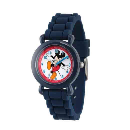 WDS000012: Plastic Disney Boys Skipping Mickey Navy Watch SilStrap