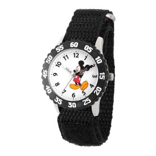WDS000084: STNLSTL Disney Boys Mad Mickey Blk Watch Nylon Strap