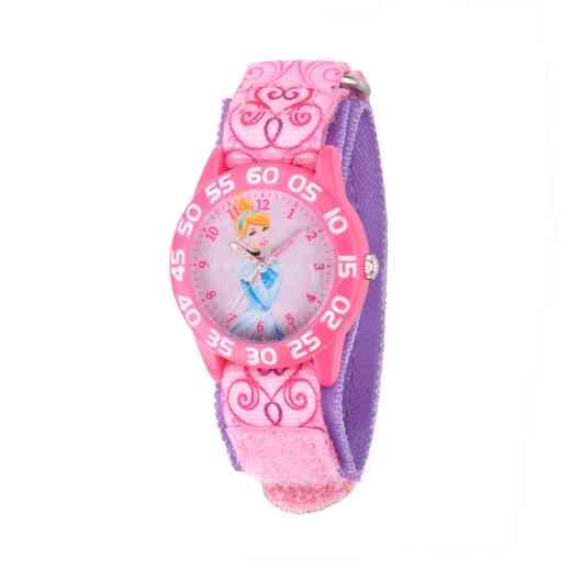 W001193: Plastic Gir Dis Cinder Pink Watch Printed Nylon
