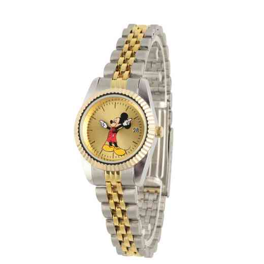WDS000101: Sil/Gld Alloy Disney Mickey Womens Watch TT Stnstl Brac