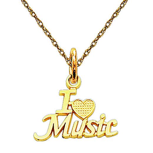 C423/5RY-18: 14k YG I Love Music Charm
