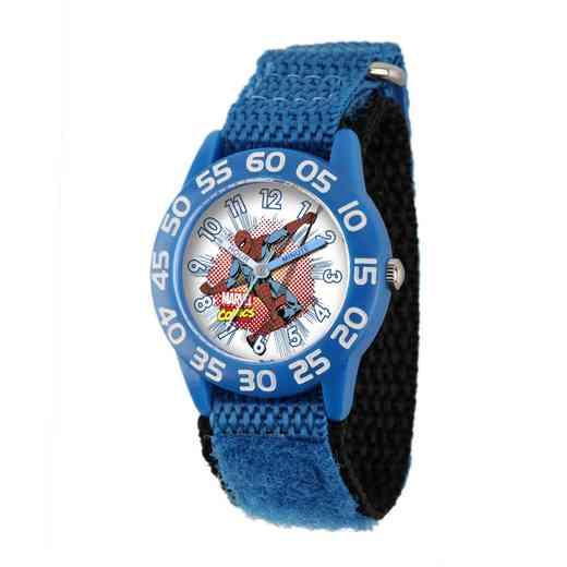W001721: Plastic Marvel Boys SpdrMan Comic Watch Bl Ny Strap