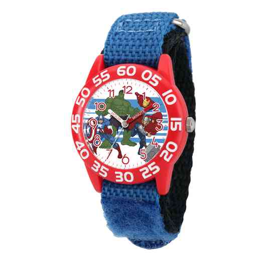 W003235: Plastic Mvl Boys HulkIronThor Red Watch Blu Ny Strap