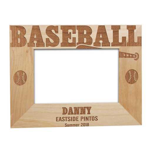 925512: Baseball Wooden  Frame Alder 5 x 7