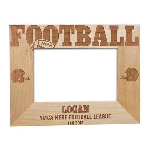 925492: Football Fan Wooden Frame Alder 5x7