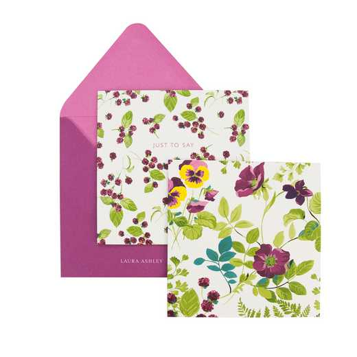 LAPV08: Laura Ashley Parma Violets Notecard Set