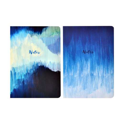 GTPNB08: Portico/AW16 Notebooks  BLUE ABSTRACT A5 NB 2 Set