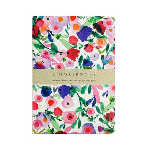 GTPNB15: Portico Notebooks  SET OF 2 EXERCISE BOOKS Victorian garden