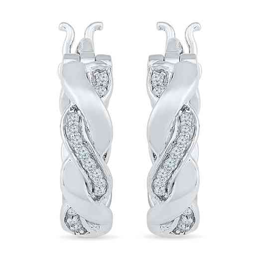 EO078853CAW: 1/6CTTW DIA TWISTY HOOP EARRINGS