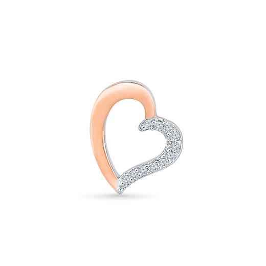 MH079748AXP: DIA ACCNT  HEART SINGLE EARRING
