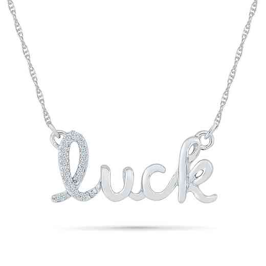 NF079737AAW: DIA ACCNT DIA LUCKY NECKLACE