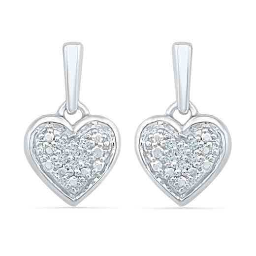 EH203317AAW: 925 DIA ACCNT COMPOSITE HEART EARRINGS