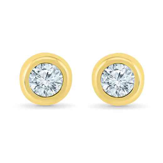 ES201828DTY: 10KYG 1/5CTTW DIA BEZEL EARRINGS