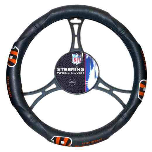 1NFL605000002RET: NW CAR STEERING WHEEL COVER, BENGALS