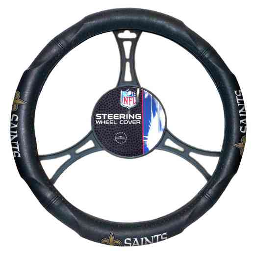 1NFL605000021RET: NW CAR STEERING WHEEL COVER, SAINTS
