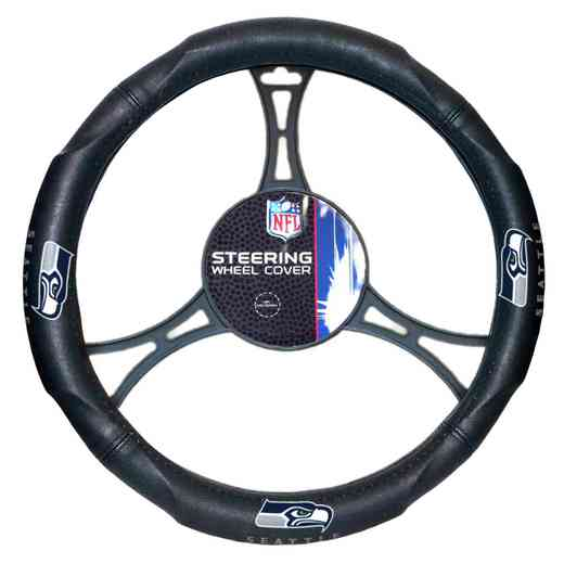 1NFL605000022RET: NW CAR STEERING WHEEL COVER, SEAHAWKS