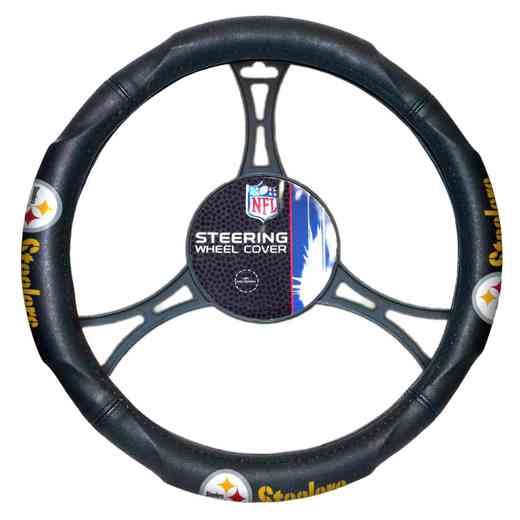1NFL605000078RET: NW CAR STEERING WHEEL COVER, STEELERS