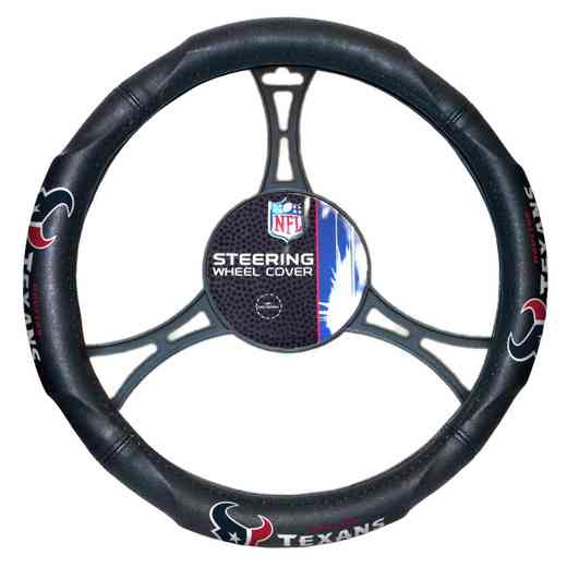 1NFL605000119RET: NW CAR STEERING WHEEL COVER, TEXANS
