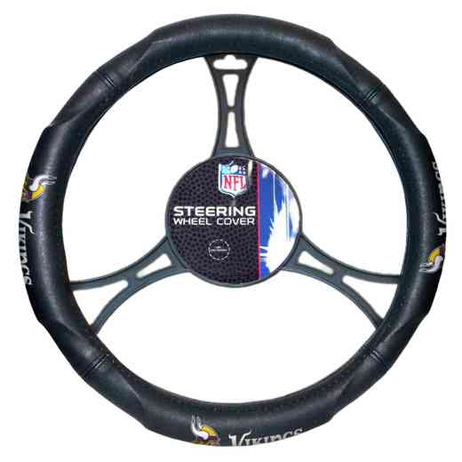 1NFL605000023RET: NW CAR STEERING WHEEL COVER, VIKINGS