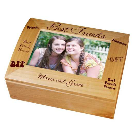 729566: Wooden Photo Keepsake Box best friends