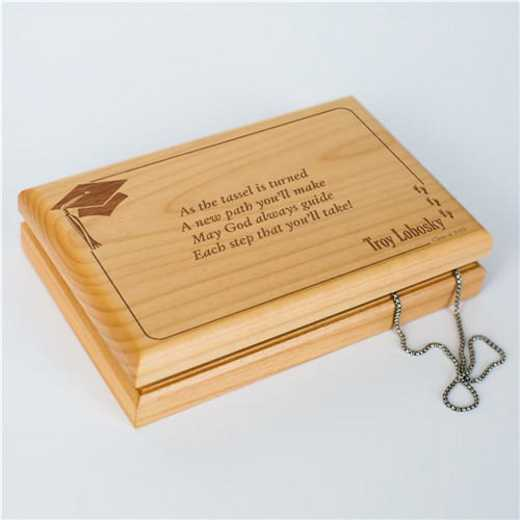 G11846: Wooden Valet Box /graduation