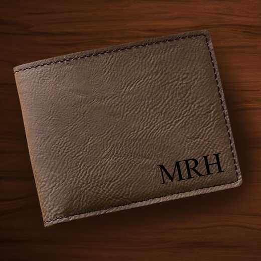 GC1327 Dk Brown: Leatherette Wallet