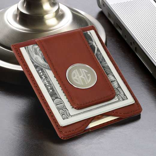 GC1074: Brown Leather Wallet & Money Clip
