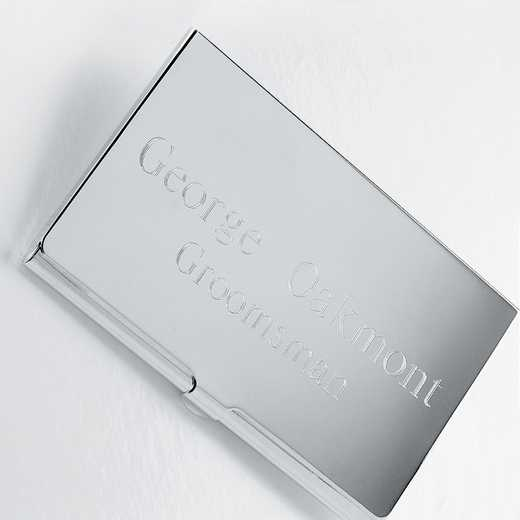 GC196: Personalized Silver Plated Business Card Case