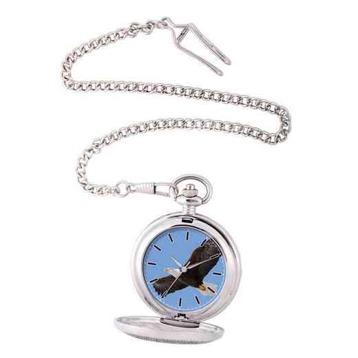 PW00074: Pocket Watch Eagle Silver Tone