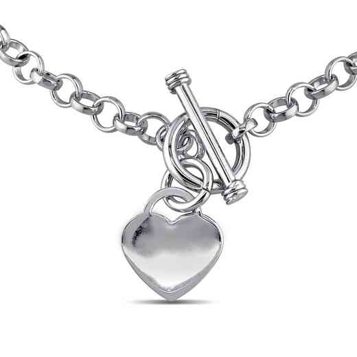 BAL000380: Heart Charm Necklace in Sterling Silver