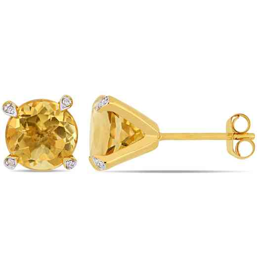 BAL000579: Citre / 1/10 CT Diamond Stud Earrgs 10k Yellow Gold