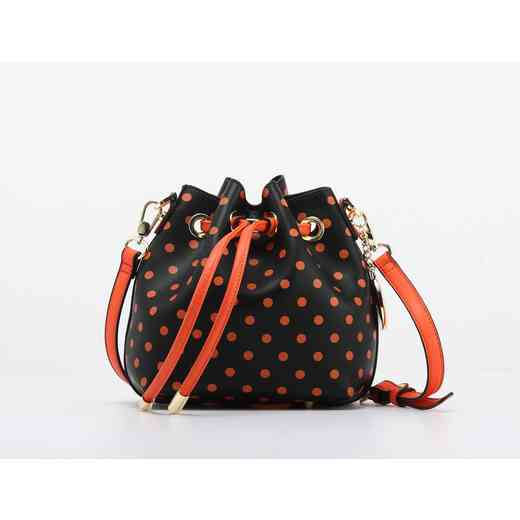 H150330-13-BLK-OR: Sarah Jean Small Polka Dot BLK-OR