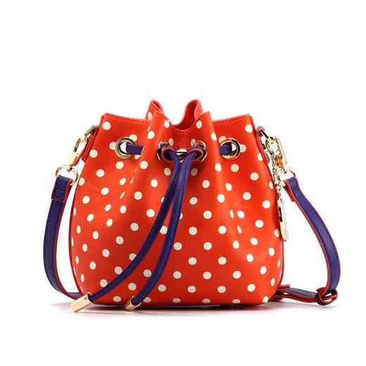 H150330-13-OR-W-RP: Sarah Jean Small Polka Dot OR-W-RP