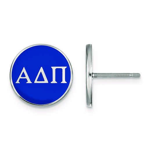 SS031ADP: Strlng Slvr LogoArt Alpha Delta Pi Enamld Pst Erring
