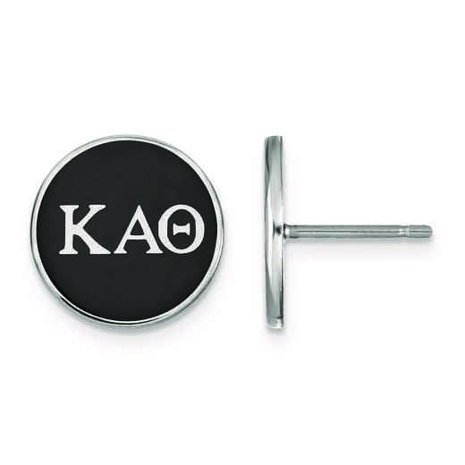 SS031KAT: Strlng Slvr LogoArt Kappa Alpha Theta Enamld Pst Erring