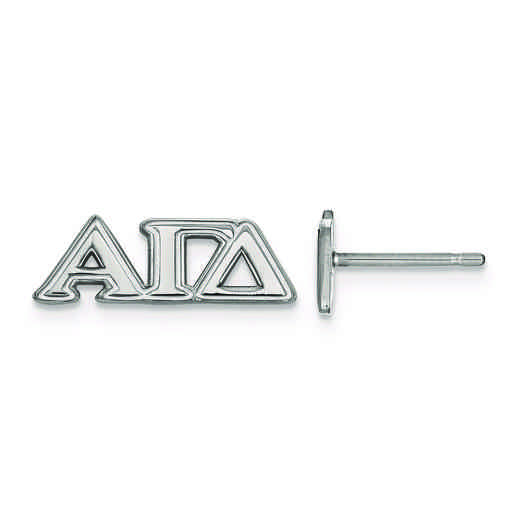SS005AGD: Strlng Slvr LogoArt Alpha Gamma Delta XS Post Earrings