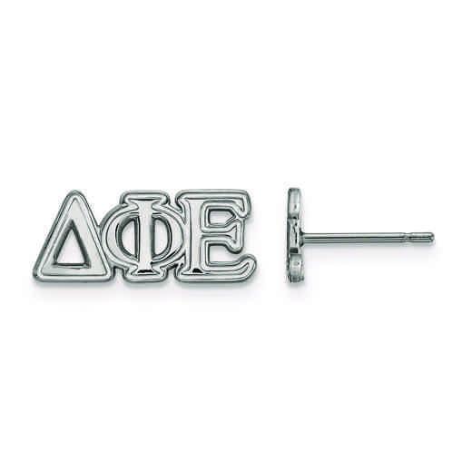 SS005DPH: Strlng Slvr LogoArt Delta Phi Epsilon XS Post Earrings