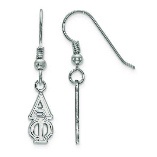 SS026APH: Strlng Slvr LogoArt Alpha Phi Small Dangle Earrings
