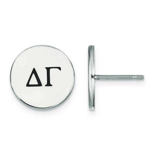 SS033DG: Strlng Slvr LogoArt Delta Gamma Enameled Post Earrings