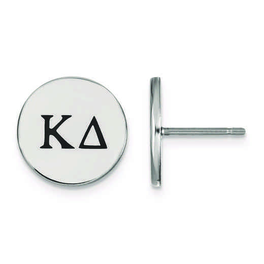 SS033KD: Strlng Slvr LogoArt Kappa Delta Enameled Post Earrings